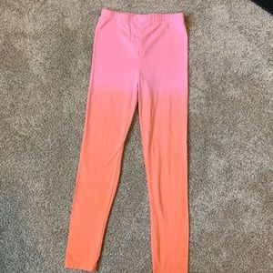 Cotton On Kids Ombré Leggings - Pink Orange - 8